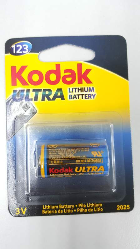 Kodak CR123A Camera battery